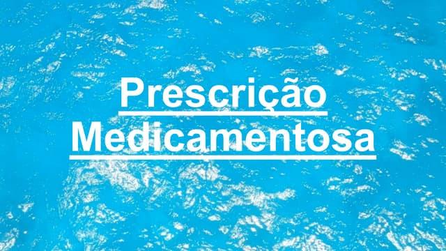 Prescrição medicamentosa em Odontopediatria