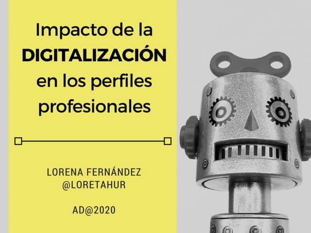 Impacto de la digitalización en los perfiles profesionales