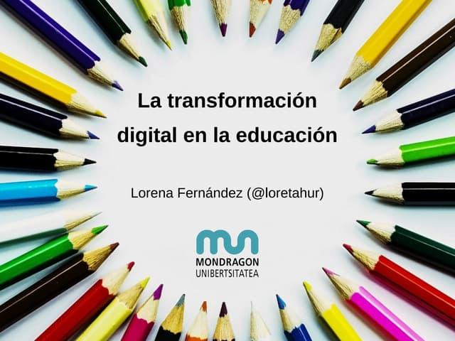 La transformación digital en la educación