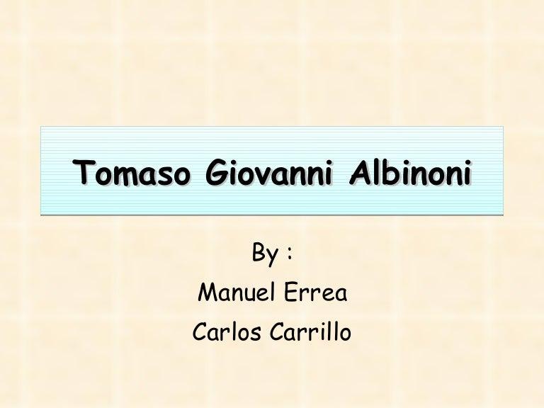Biography of T.Albinioni
