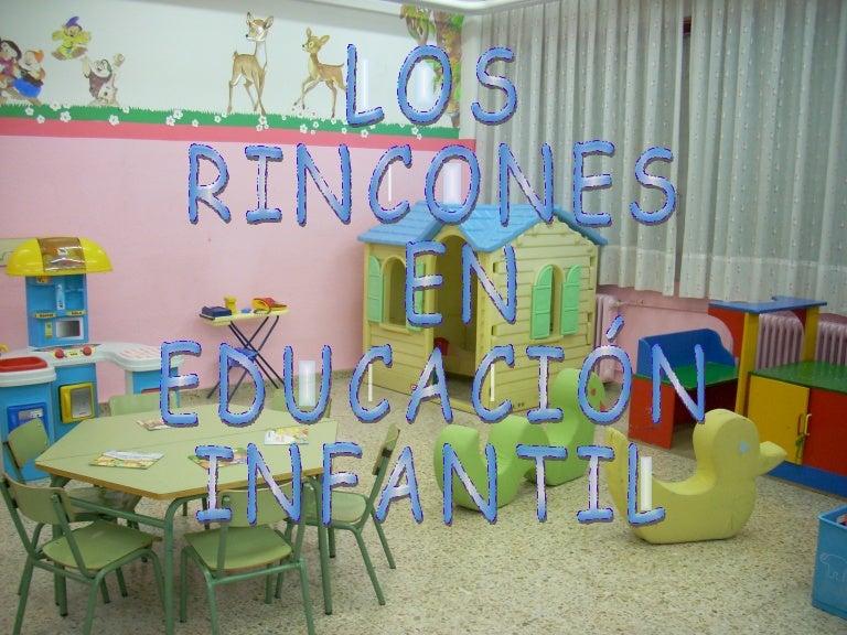 Los Rincones En Educaci N Infantil