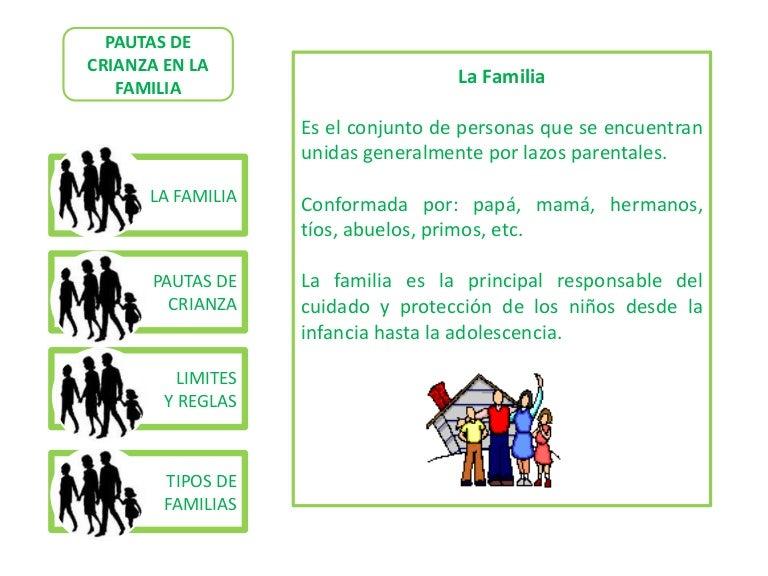 Pautas de crianza for Tipos de familia pdf