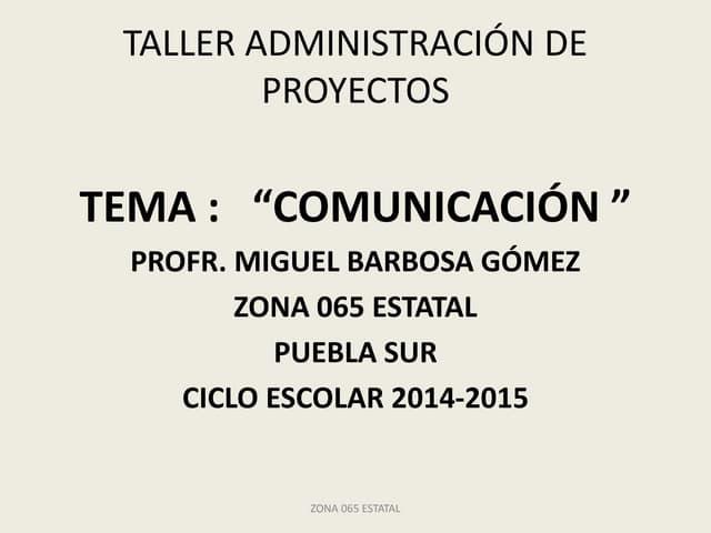 Presentación comunicación