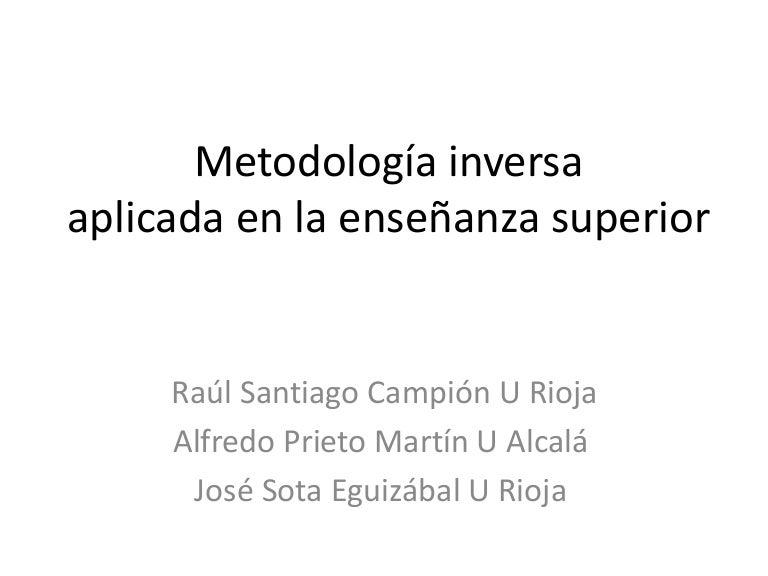 Metdología inversa en la educación superior (primera sesión curso uni…