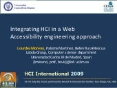 Integrating HCI in a Web accessibility engineering approach