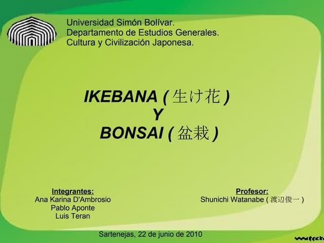 Ikebana bonsai (Ana Karina, Pablo, Luis)