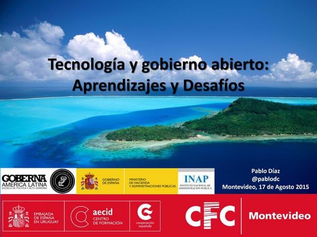 Tecnología y Gobierno Abierto (Montevideo)