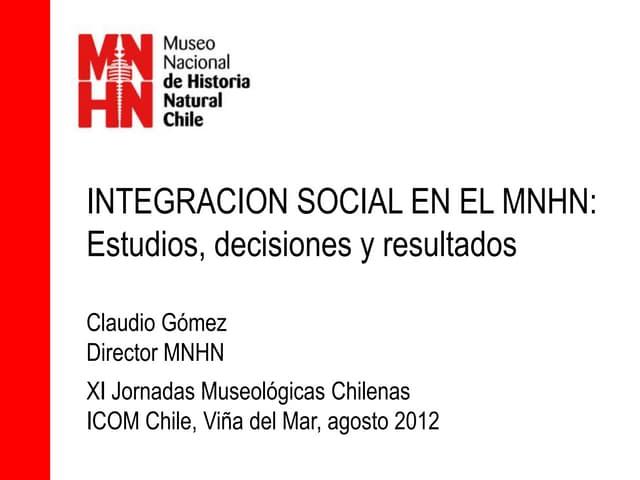 Presentacion Jornadas Museologicas