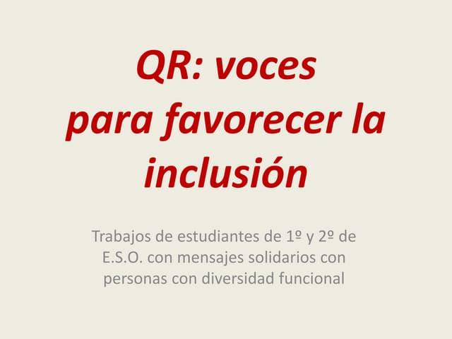 QR para dar voz a la discapacidad