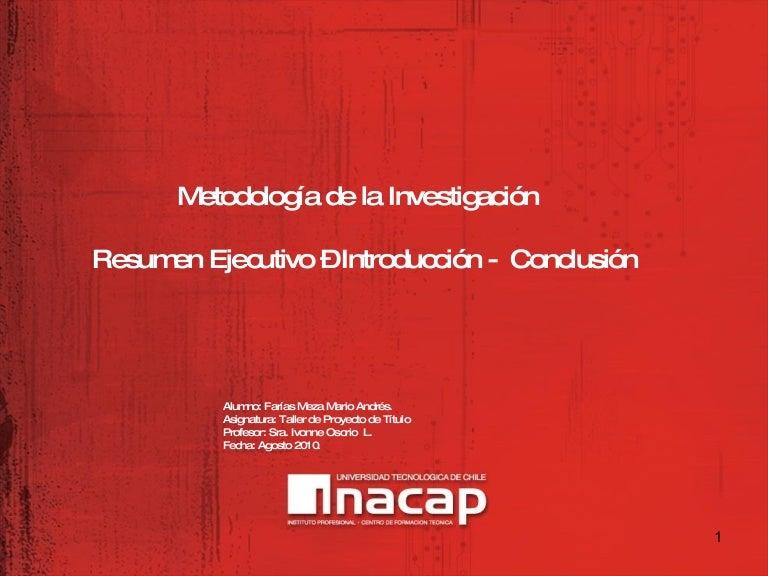presentación resumen introduccion conclusion