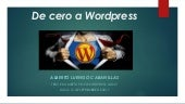 De Cero a Wordpress