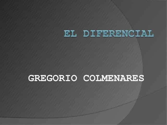 Presentacion diferencial gregorio