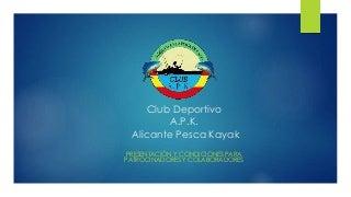 Presentación APK Patrocinadores y Colaboradores