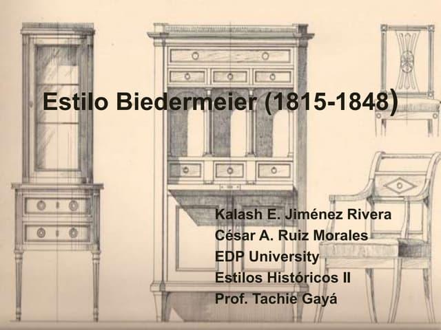 Mueble  Biedermeier .