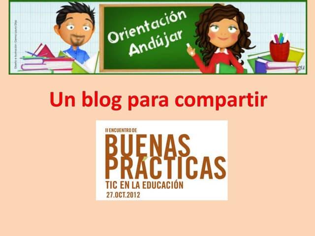 Presentacion blog orientacion andujar bbpp cita
