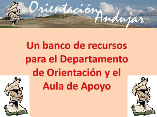 ORIENTACION ANDUJAR en las Jornadas de Orientadores Almería 2010