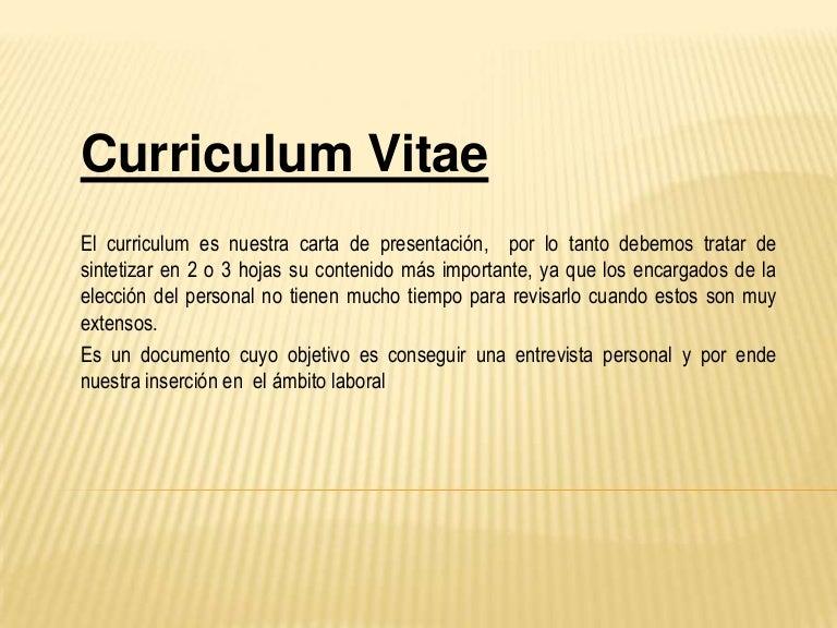 Presentacion Curriculum