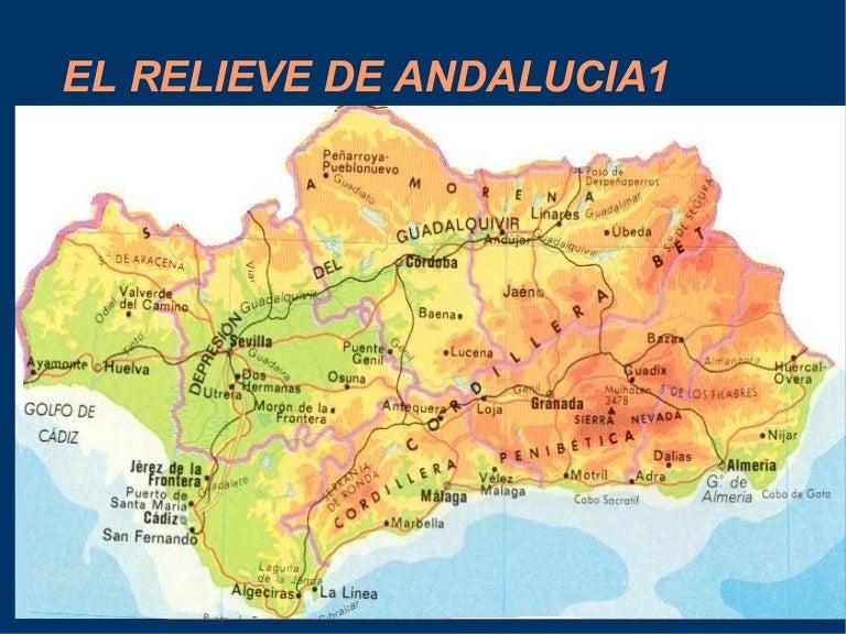 Mapa Rios De Andalucia.Presentacion De Andalucia