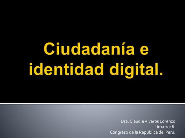 Ciudadanía e identidad digital.