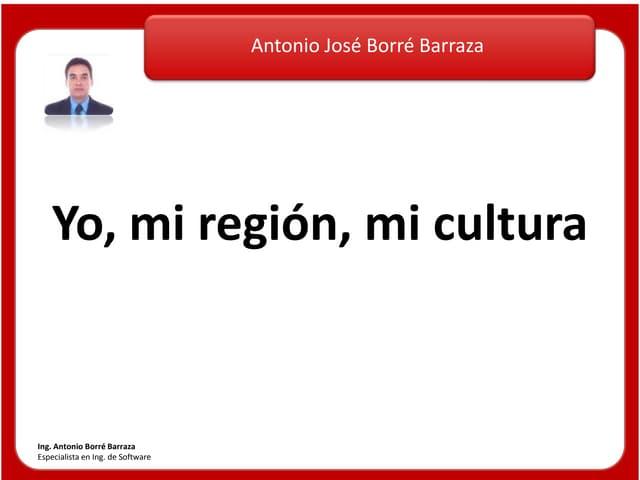 Presentacion Yo, mi región, mi cultura