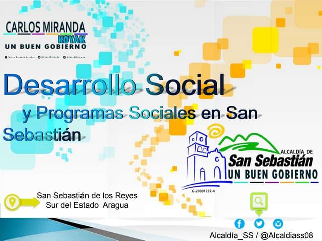 Desarrollo social y programas sociales en San Sebastián.
