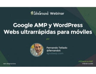 Presentación webinar Google AMP y WordPress