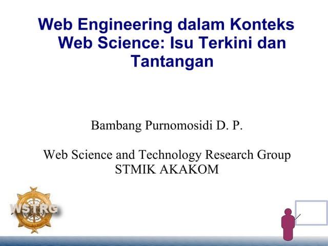 Web Engineering dalam Konteks Web Science: Isu Terkini dan Tantangan