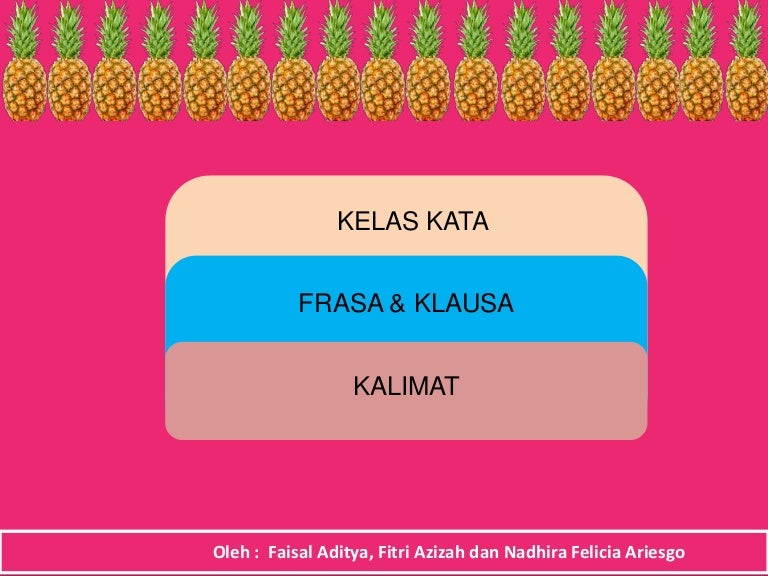 Presentasi Bahasa Indonesia Kelas Kata Frasa Dan Klausa Kalimat