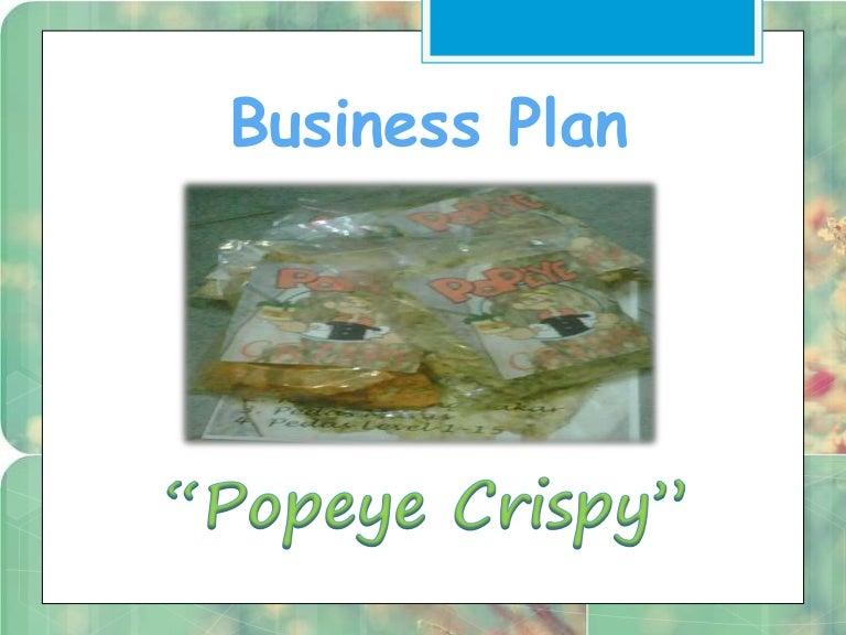 Presentasi Business Plan Popeye Crispy