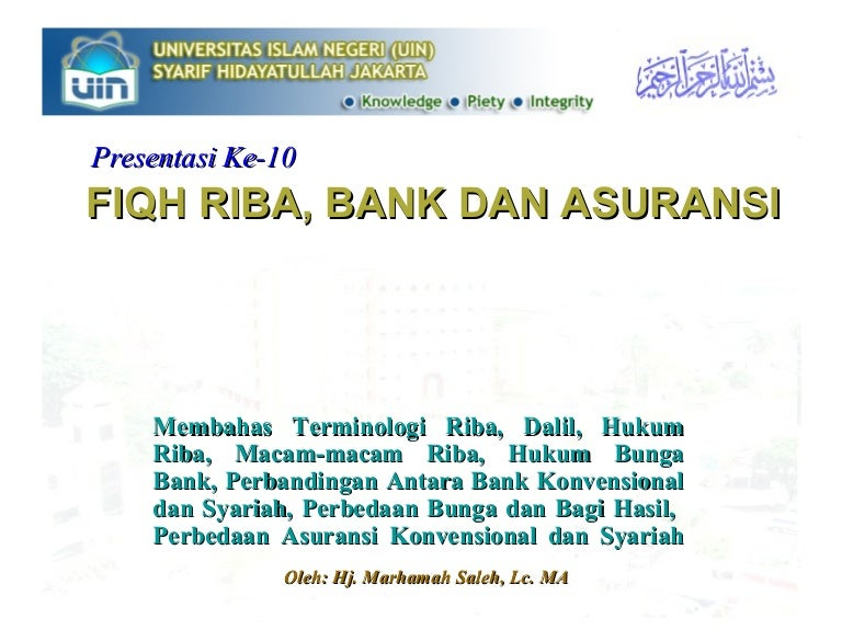 Makalah Riba Bank Dan Asuransi