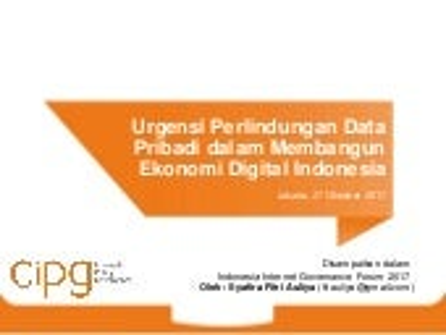 EK-1 Urgensi PDP dalam Membangun Ekonomi Digital Indonesia