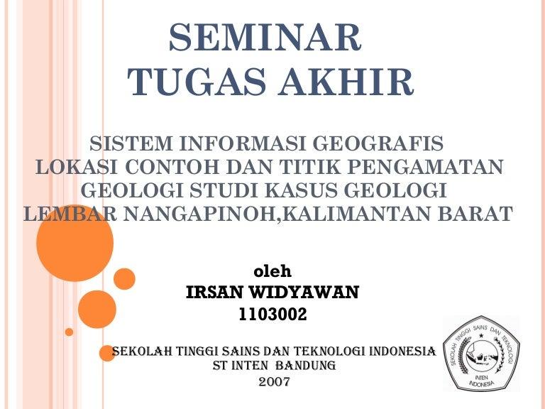 Proposal Sistem Informasi Geografis Pemetaan Perumahan Di Badan Penan
