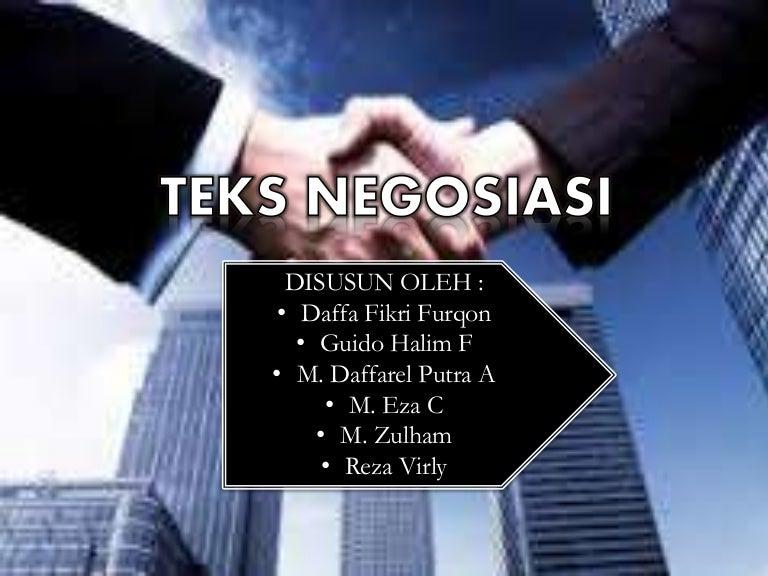 Presentasi Teks Negosiasi B.indo Kelompok 5