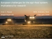 Challenges for EU Agri-Food and implications for research