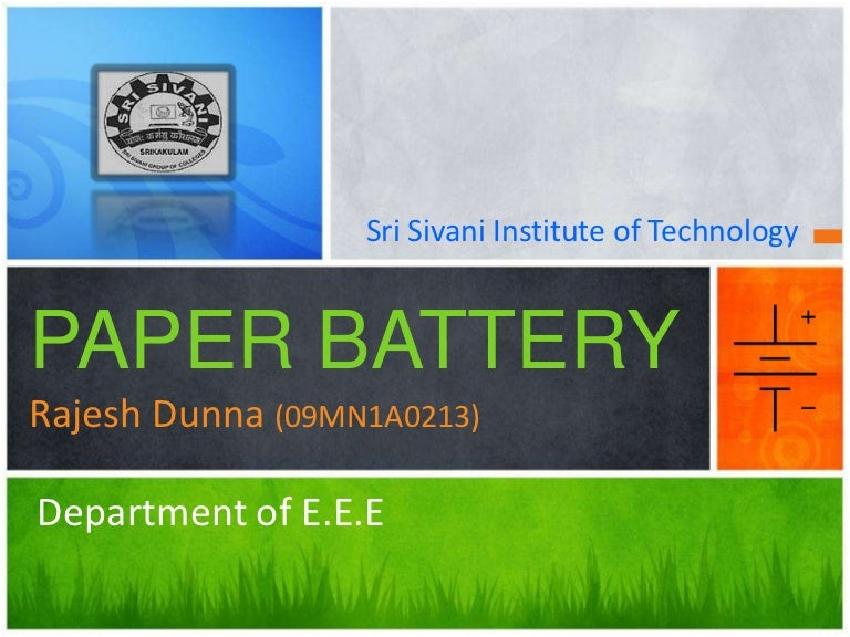 Paper Battery Report Pdf
