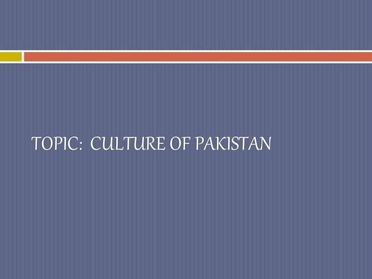 culture of pakistan