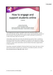 How to engage and support students online