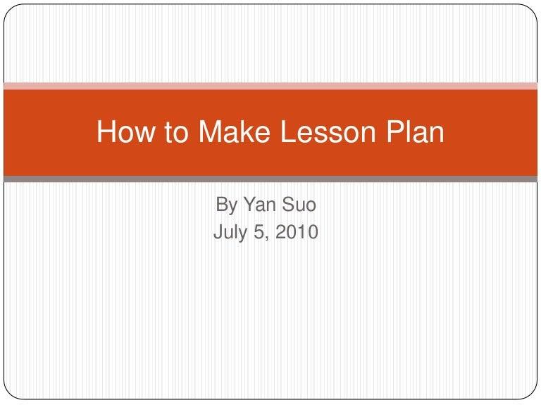 lesson plan powerpoint presentation