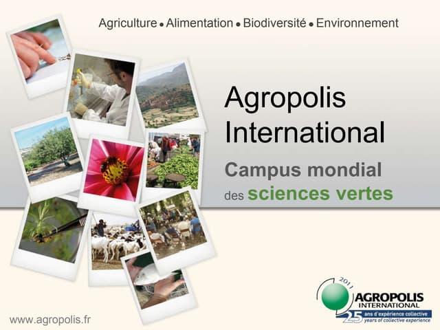Présentation Agropolis-International