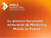 Présentation barometre mobile marketing association france