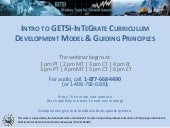 Presentation: Introduction to the GETSI-InTeGrate Development Model & Guiding Principles