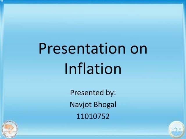 Inflation presentation  authorstream.