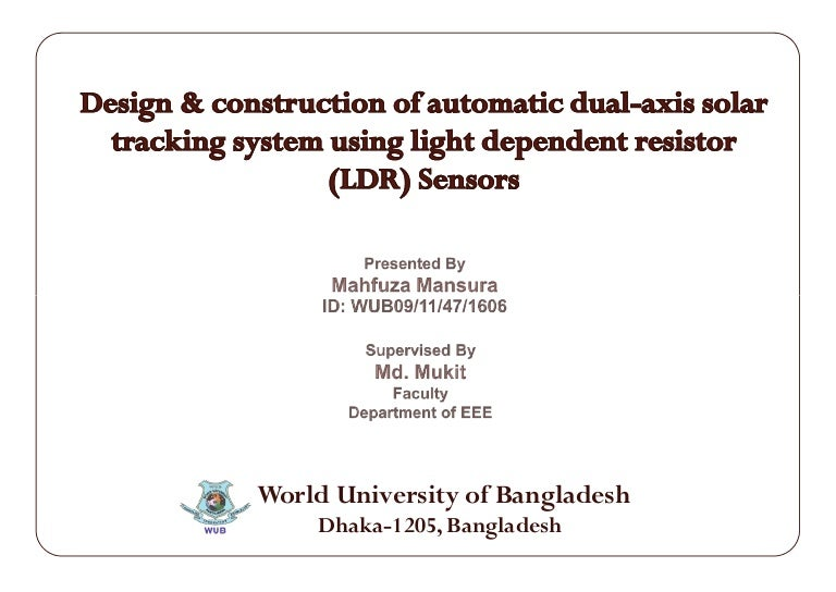 Design and Construction of Automatic Dual-Axis Solar Tracking System …