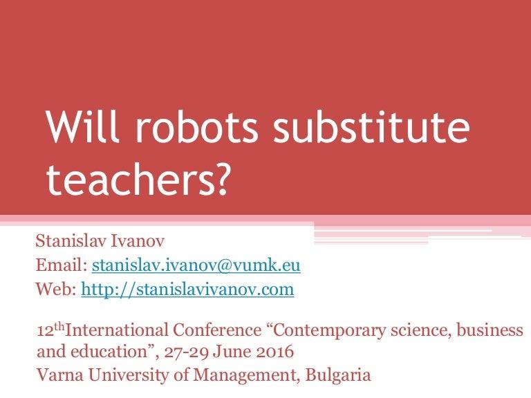 Will robots substitute teachers reheart Gallery