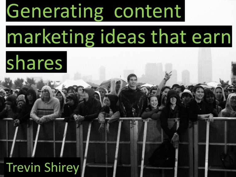Generating content marketing ideas that earn shares WebFX