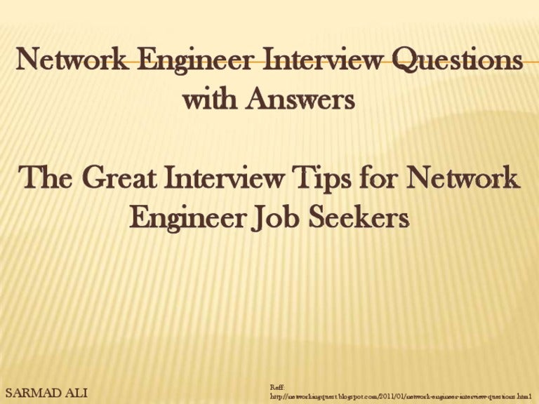 Network Interview Questions And Answers Pdf