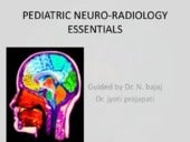 pediatric neuroradiology essentials