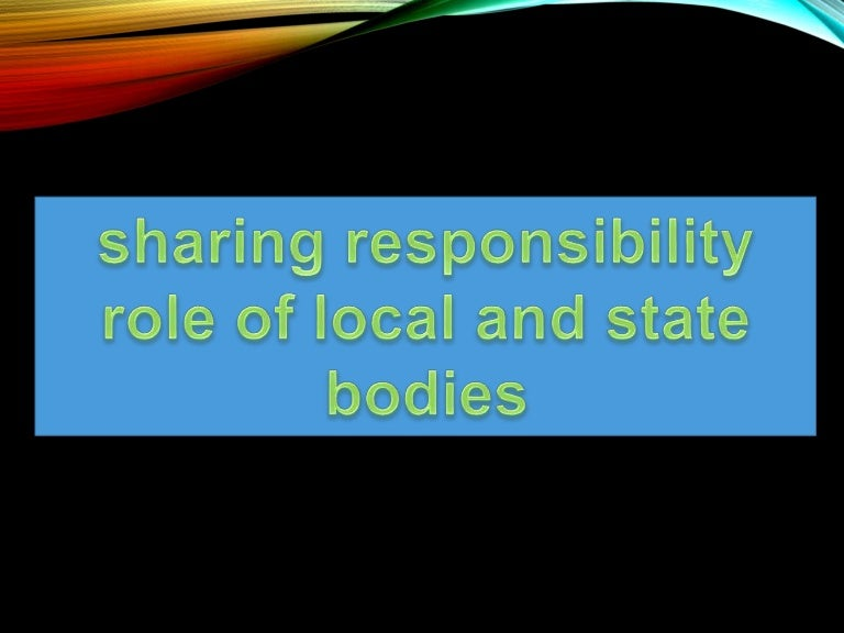 sharing responsibility class 10