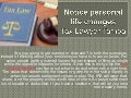 Notice personal life changes | Tax Lawyer Tampa