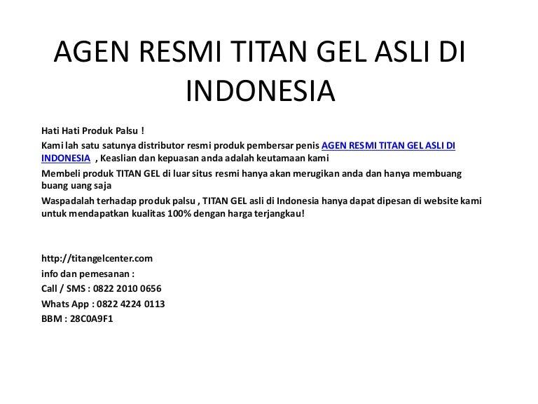 agen resmi titan gel asli di indonesia